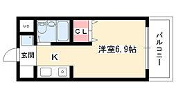 パピリオ花の木[107号室]の間取り