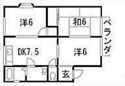 クレール金澤I[1階]の間取り