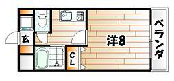 リモージュ野上[6階]の間取り