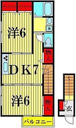 レクタングル[2階]の間取り