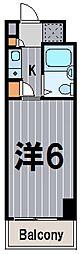 神奈川県横浜市神奈川区台町の賃貸マンションの間取り