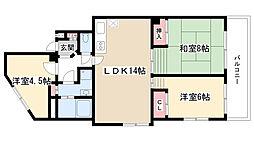 シエロ名東[502号室]の間取り