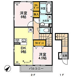 (仮)D-room渋川金井[205号室]の間取り