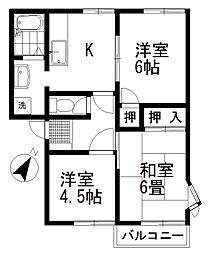 セゾン渋谷 B[102号室号室]の間取り