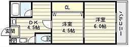 下野マンション[3階]の間取り