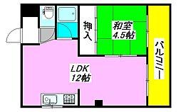 テラノ・コーポ 405号室[4階]の間取り