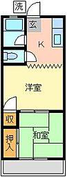 グリーンハイツミナミ[1F号室]の外観