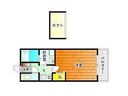 ファミール麻野[2階]の間取り