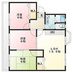 第一コーポHAMADA[4階]の間取り