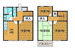 [テラスハウス] 東京都町田市西成瀬1丁目 の賃貸【/】の間取り