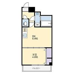 (仮称)中央区弁天3丁目計画 3階1DKの間取り