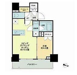 都営新宿線 岩本町駅 徒歩5分の賃貸マンション 9階1LDKの間取り