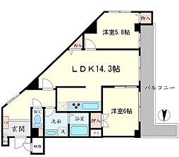 ベルアーバニティ桃山台[2階]の間取り