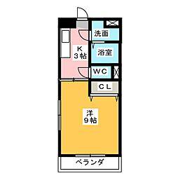 ラフィネ戸木[3階]の間取り