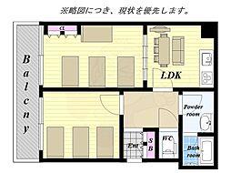 レジデンス桜久 2階2LDKの間取り