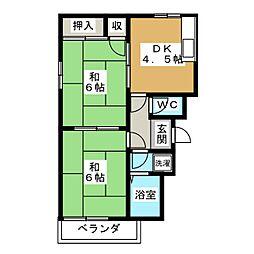 セントポーリアB[1階]の間取り