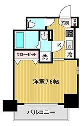エスリード大阪城アクシス 7階1Kの間取り