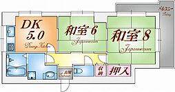 須磨の浦ビューハイツ[201号室]の間取り