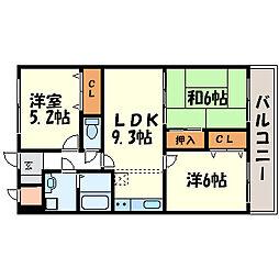 兵庫県尼崎市栗山町1丁目の賃貸マンションの間取り