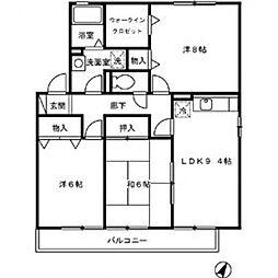 オーク・ソフィア[2階]の間取り