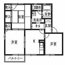 フォーレス・メゾン・コバタ[2階]の間取り