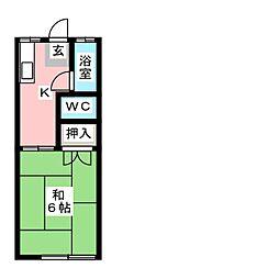 名島コーポ[2階]の間取り