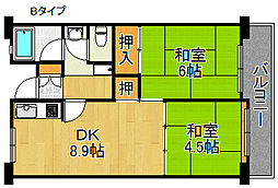 佐野湊団地[11階]の間取り