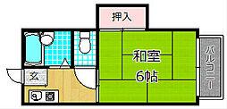 プラ・ディオ東香里[2階]の間取り
