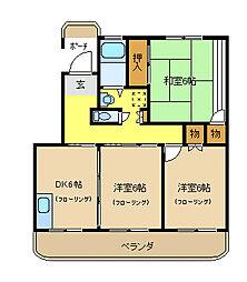 コスモプラザ茅ヶ崎[404号室]の間取り
