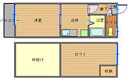 長崎県長崎市千歳町の賃貸アパートの間取り