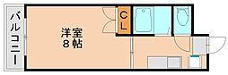 コーポラス東豊[5階]の間取り