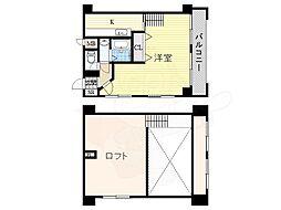 ハーバーハウス大阪 7階1Kの間取り