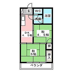 日光寺マンション[5階]の間取り
