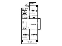 ロイヤルリョーコービル[2階]の間取り