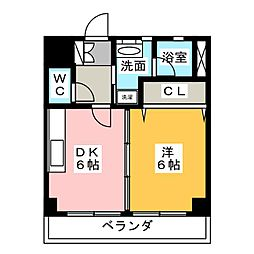 ボヌ・メゾン見附[1階]の間取り