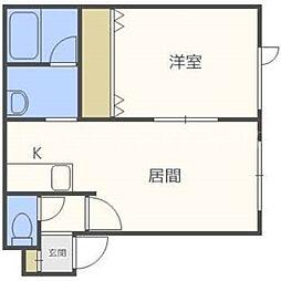 北海道札幌市東区北二十二条東7丁目の賃貸アパートの間取り