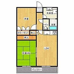 コンフォート21[2階]の間取り