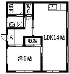 和田アパート[201号室]の間取り