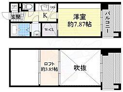 フォレステージュ江坂公園 14階1Kの間取り