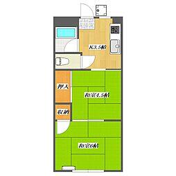Sunny corporate house 1 Buildi[1階]の間取り