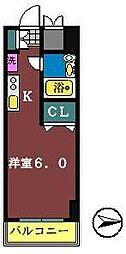 オネスティ船橋5番館[706号室]の間取り