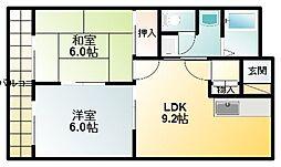 Fineマンション[2階]の間取り