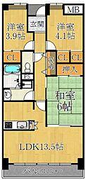 アバンティ御代開[1階]の間取り