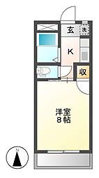 カーサクリタ[3階]の間取り