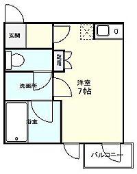 シンエイ第7船橋マンション[4階]の間取り