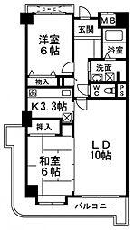 シャルマンフジ熊取壱番館[7階]の間取り
