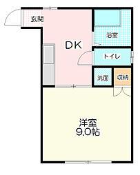シティハイム早川[2階]の間取り