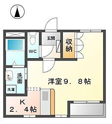 愛知県あま市新居屋榎坪の賃貸アパートの間取り