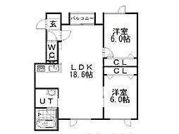 リアンファミーユ[2階]の間取り