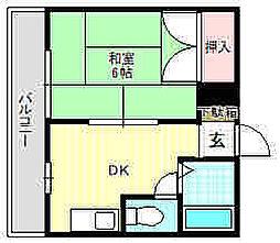 第一ミルキーハイム[2階]の間取り